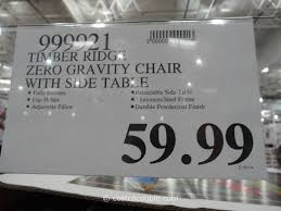 timber ridge zero gravity chair with side table timber ridge zero gravity lounge chair costco 3 amazing costco zero