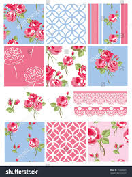 pretty shabby chic floral vector seamless stock vector 110949665