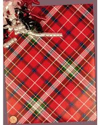 christmas plaid wrapping paper sweet deal on cozy plaid christmas gift wrap 30 x 833 gift