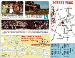 Cedar Fair Parks Map Newsplusnotes From The Vault Undated 1960s Dorney Park Brochure