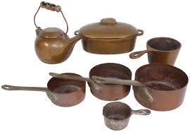 child u0027s set of copper cookware 7 total pcs small pot is cast
