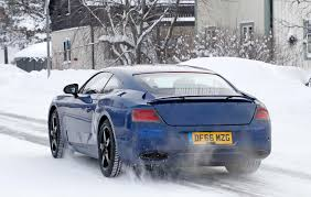bentley snow spied next gen bentley continental gt caught winter testing