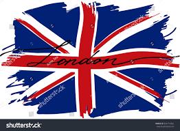 Great Britain Flag London British Flag Great Britain Handwritten Stock Vector