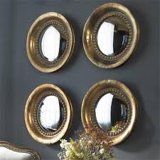 Classy Mirrors by Tropea Round Convex Mirror Set Of Two 17