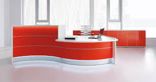 Gloss White Reception Desk With A Nice Mix Of Acoustic Balance And Warm Welcome This