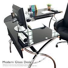 Ikea L Shaped Desk Desk Paris Computer Desk In Black Glass Black Glass Computer
