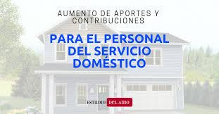 valores servicio domestico 2016 argentina aumento de aportes y contribuciones para personal del servicio doméstico