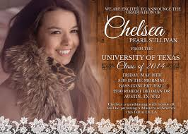 country wood lace graduation announcement shabby chic high