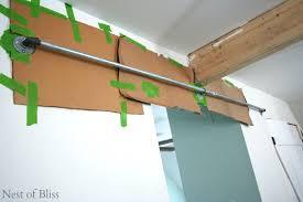 How To Make A Barn Door Track Sliding Doors Nest Of Bliss