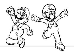 super mario brothers mario u0026 luigi free printable coloring pages