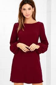 sleeve dress burgundy dress shift dress sleeve dress 38 00