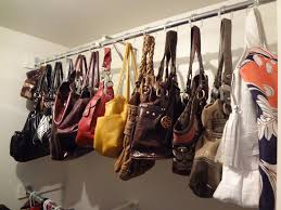 how to organize your handbags and purses shower curtain hooks