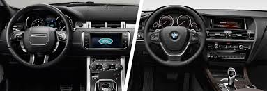 evoque land rover interior range rover evoque vs bmw x3 comparison carwow