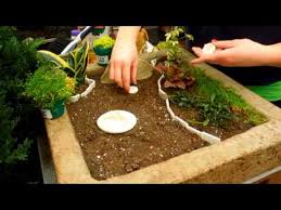 How To Make A Patio Pond How To Make A Fairy Garden Youtube