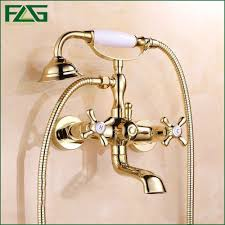 compare prices on gold bathroom shower online shopping buy low flg bath faucet shower bronze porcelain shower faucet bathroom telephone gold plated with hand shower bathroom
