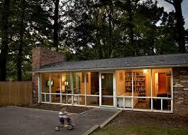 mid century modern home designs exterior midcentury with brick