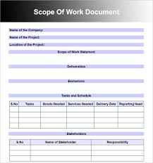 Contract Templates Free Word Templates Scope Of Work Templates Free Word Pdf Document Creative Template