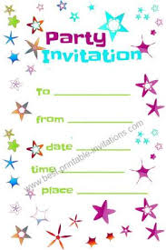 marvelous free printable kids birthday party invitations templates