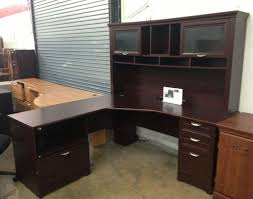 L Shaped Reception Desk Desk L Shaped Reception Desk Stunning Cherry Desk With Hutch