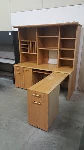 large l desk images of large l shaped desk with retractable return and hutch
