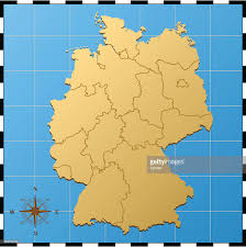 Map With Compass Germany Map With Compass Rose Vector Art Getty Images