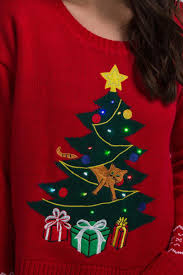 christmas tree sweater with lights christmas tree light up sweater francesca s