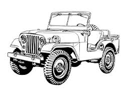 military jeep coloring page vintage m38a1 for the jeep coloring book jeep coloring book