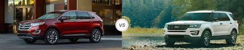 Ford Explorer Towing Capacity - 2018 ford edge vs 2018 ford explorer compare specs