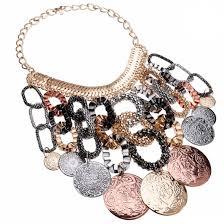 chunky gold necklace fashion images Fashion rose gold silver black chain statement bib chunky choker jpg