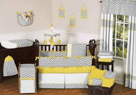engaging light grey yellow black and white baby nursery room