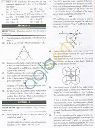 cbse solved sample papers for class 10 maths sa2 set a exam