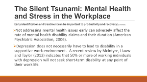 the silent tsunami mental health and stress in the workplace