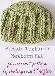 newborn pattern video free crochet pattern simple textures newborn hat underground crafter