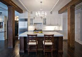 white kitchen cabinets with wood beams kitchen wood beams transitional kitchen chessin