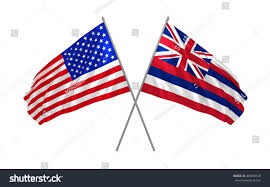 State Flags Of Usa 3d Illustration Usa Hawaii State Flags Stock Illustration
