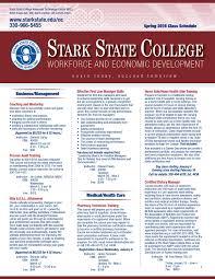 stark state workforce development spring 2016 course schedulewdsch