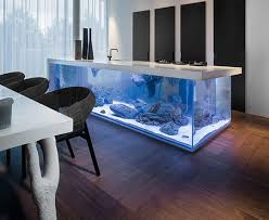 cool kitchen islands this kitchen island has an aquarium inside it the meta picture