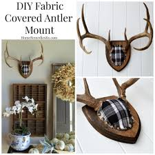 Home Decor Antlers Diy Fabric Covered Antler Mount Fabric Covered Antlers And Fabrics
