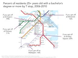 Boston T Line Map by What The T Can Tell Us About Health Inequalities Bu Today