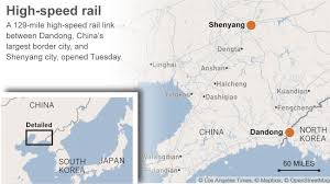 Los Angeles Train Map by China Unveils High Speed Rail Line To North Korean Border La Times