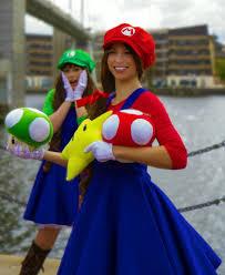 luigi costume spirit halloween super mario mario w skirt costume for women mario costumes and
