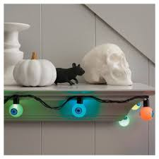 Led Lights Halloween Hyde And Eek Boutique Halloween Led Color Changing Eyeball String