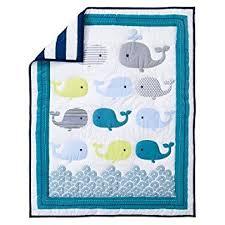 amazon com circo 4pc crib bedding set whales u0027n waves baby