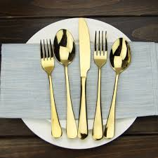 buy cutlery aliexpress com buy gold plated cutlery set 30 pcs stainless