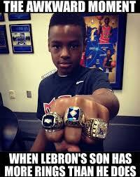 Nba Memes - nba memes on twitter lebron james son has more rings than