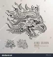 tattoo design lion patterned lion head on background tattoo stock vector 635370281