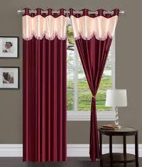 Eyelet Curtains Handloomhub Set Of 2 Door Eyelet Curtains Multi Color Buy