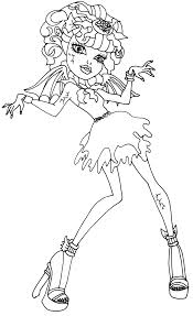 monster high rochelle coloring pages getcoloringpages com