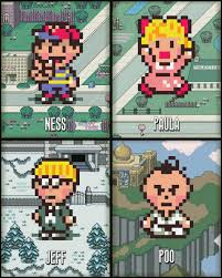 video game prints earthbound art set of 4 super