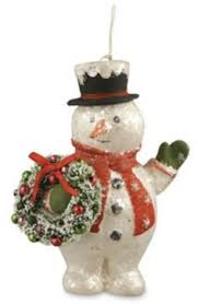 bethany lowe snowman paper mache and craft